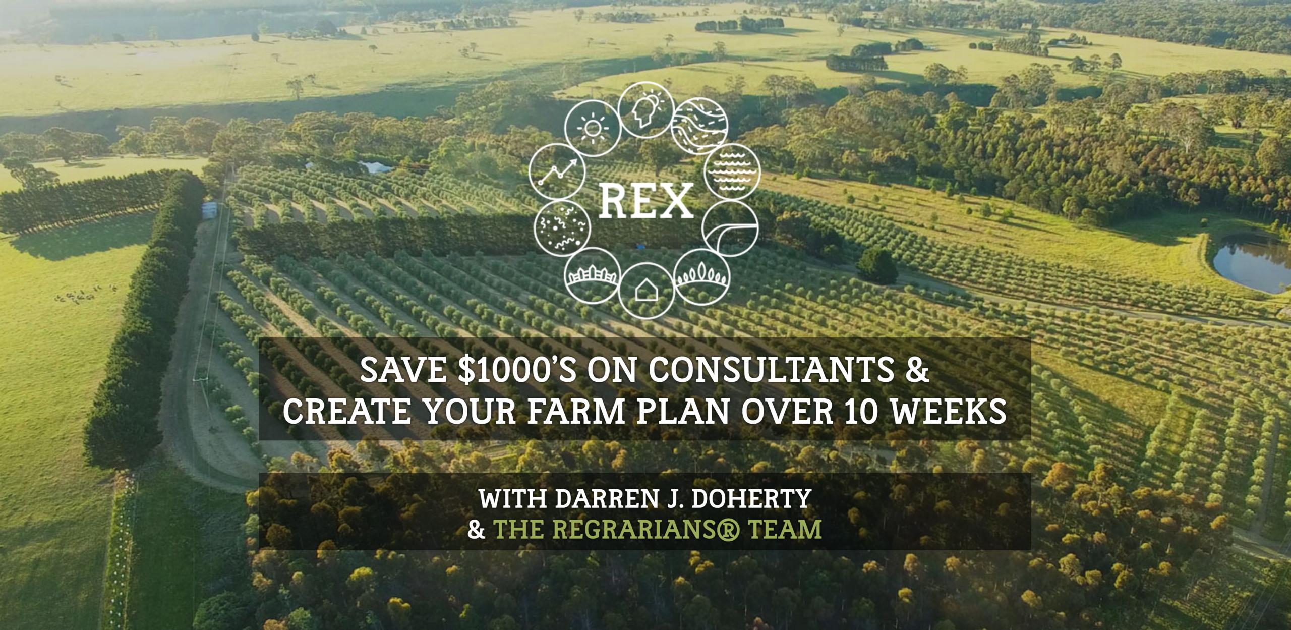 Diseñar tu propio finca con el REX en línea