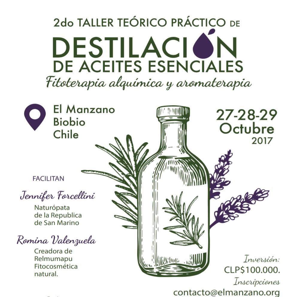 Taller: destilacion de aceites esenciales, fitoterapia alquimica y aromaterapia